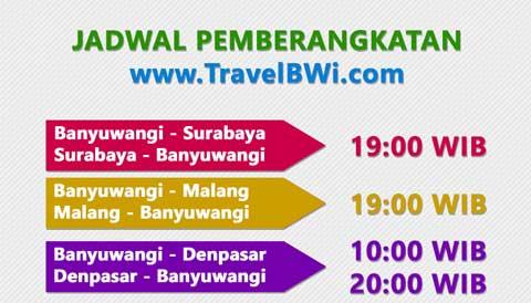 Jadwal Travel Banyuwangi Surabaya Malang Denpasar