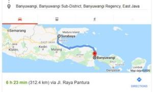 Jarak Surabaya Banyuwangi